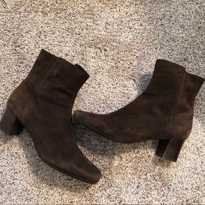 Nine West Brown Suede Ankle Boots